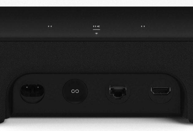 Beam är Sonos första produkt med HDMI-kontakt. Foto: Sonos