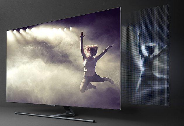 """Direkt LED-bakbelysning: Samsung QE75Q9FN är en så kallad """"Direct LED TV"""". Tusentals små lysdioder bakom LCD-panelen är indelade zoner som gör att skärmen kan få bättre kontrast och svärta än vanliga Edge LED-skärmar."""