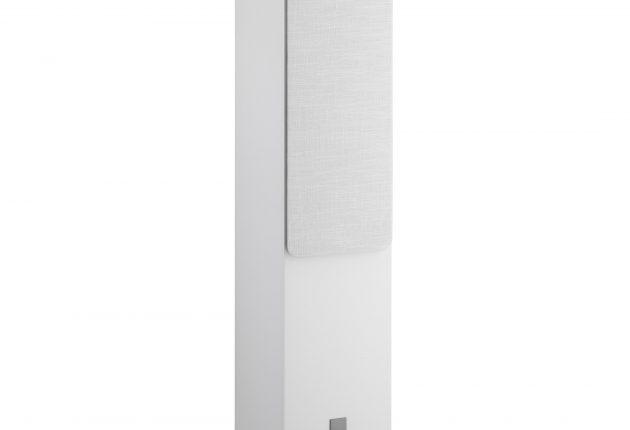 Oberon 7 ser bra ut i vitt. Man kan också välja ljus ek eller mörk valnöt. Foto: DALI