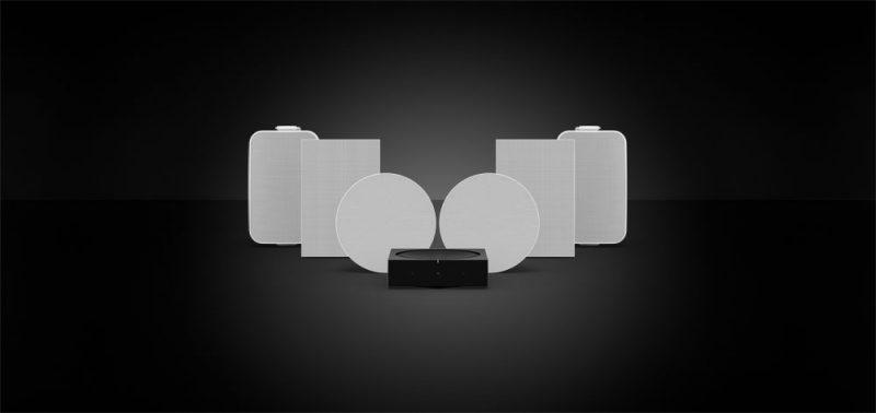 Utomhus- och inbyggda högtalare från Sonos