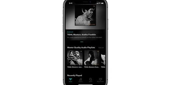 Tidal ger studioljud i iPhone