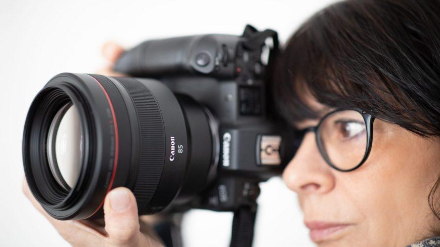 Ljusstarkt 85 mm porträttobjektiv