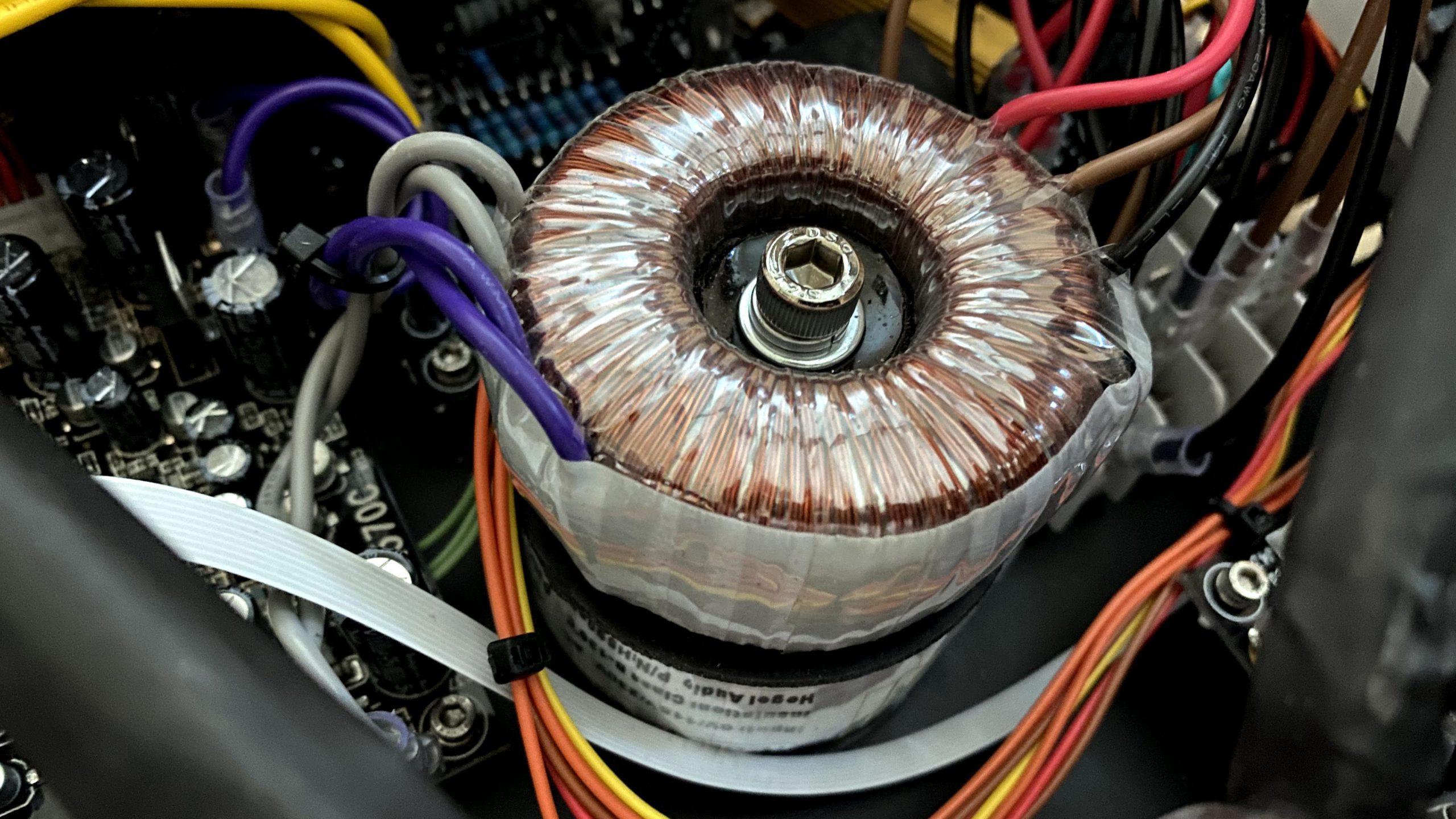 Hegel H390 DAC preamp transformers