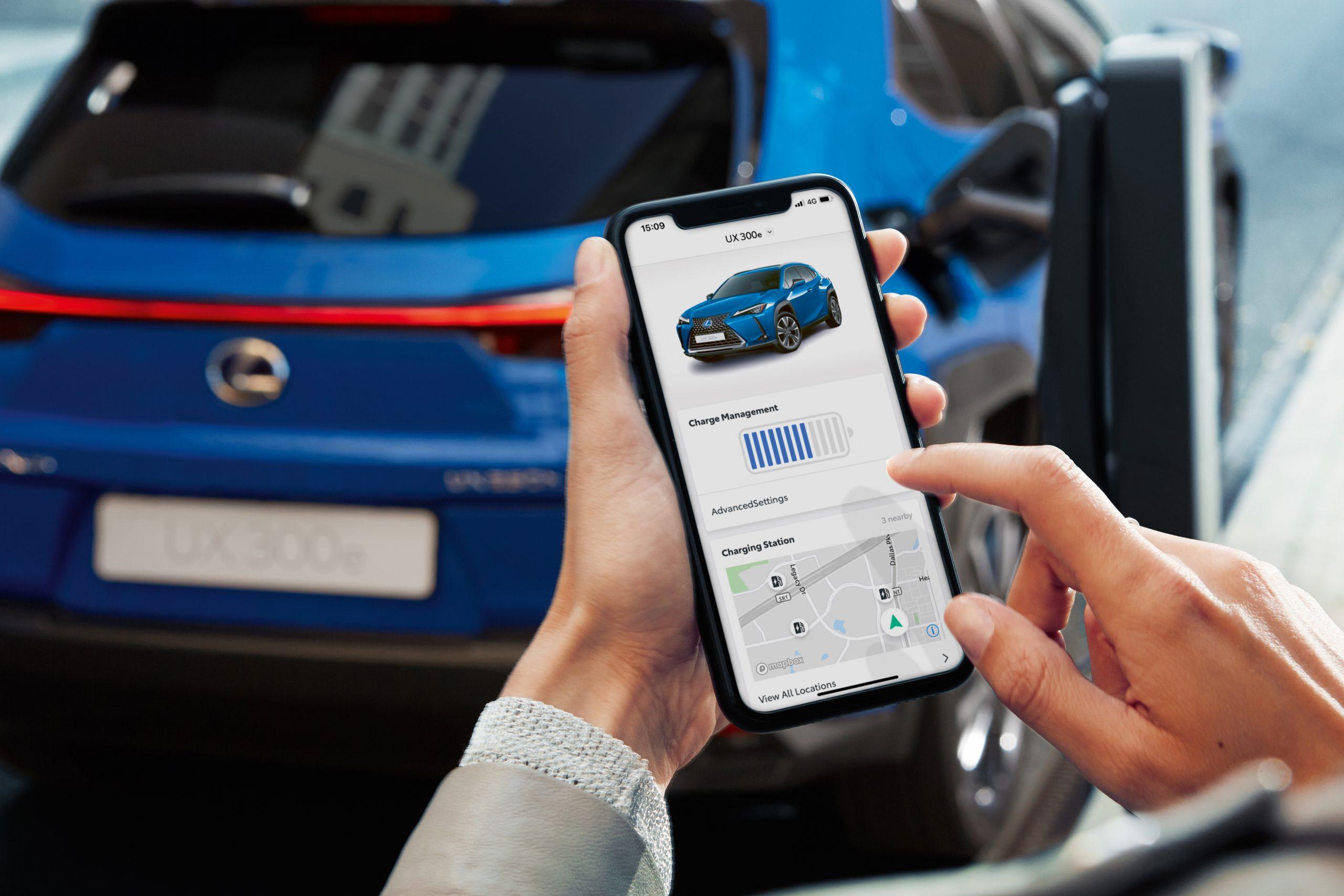 Lexus UX 300e app