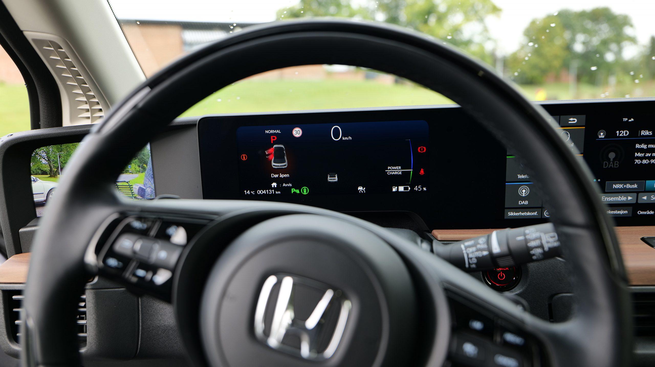 Honda e driver assist