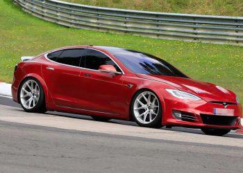 Tesla Model S Plaid Laguna Seca outside
