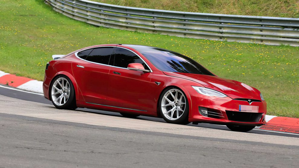 Tesla Model S Plaid Laguna Seca outside
