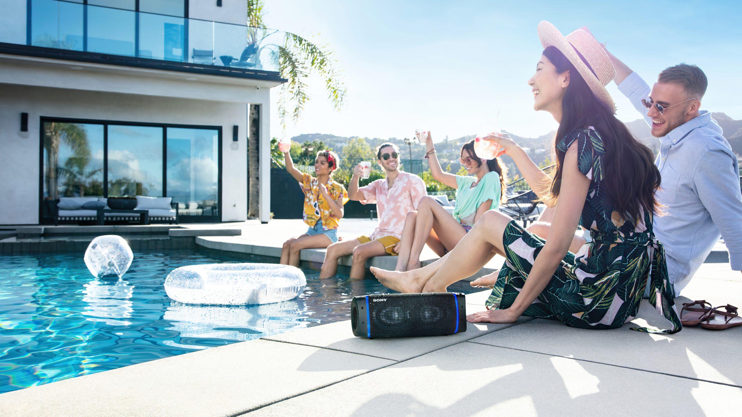 Sony SRS-XB33 har overraskende potent lyd til størrelsen. Foto: Sony