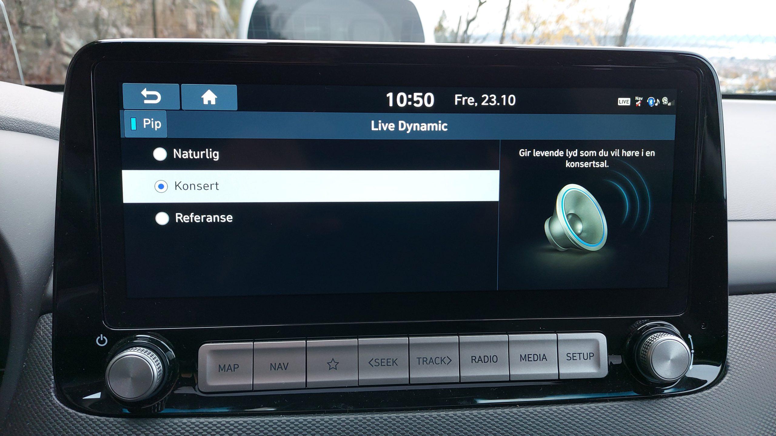 Hyundai Kona sound settings