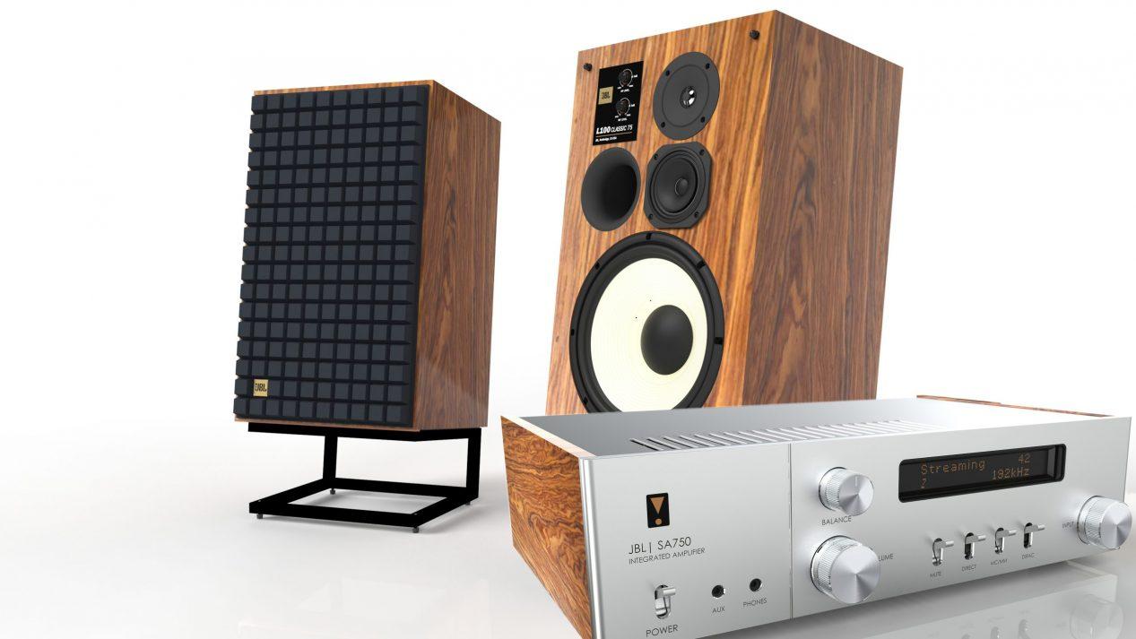 JBL L100 Classic 75 & SA750