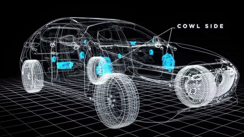 Mazda Bose speaker layout