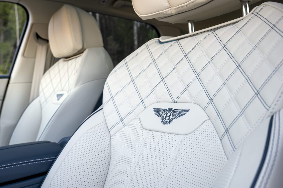 Bentley Bentayga B logo seats