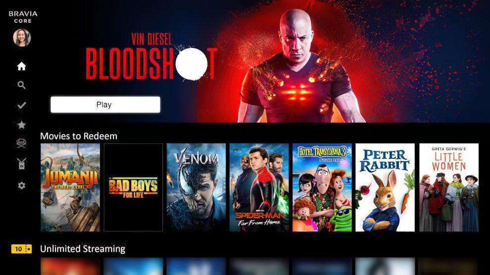 Sony lovar överlägsen video- och ljudkvalitet med strömningstjänsten Bravia Core.