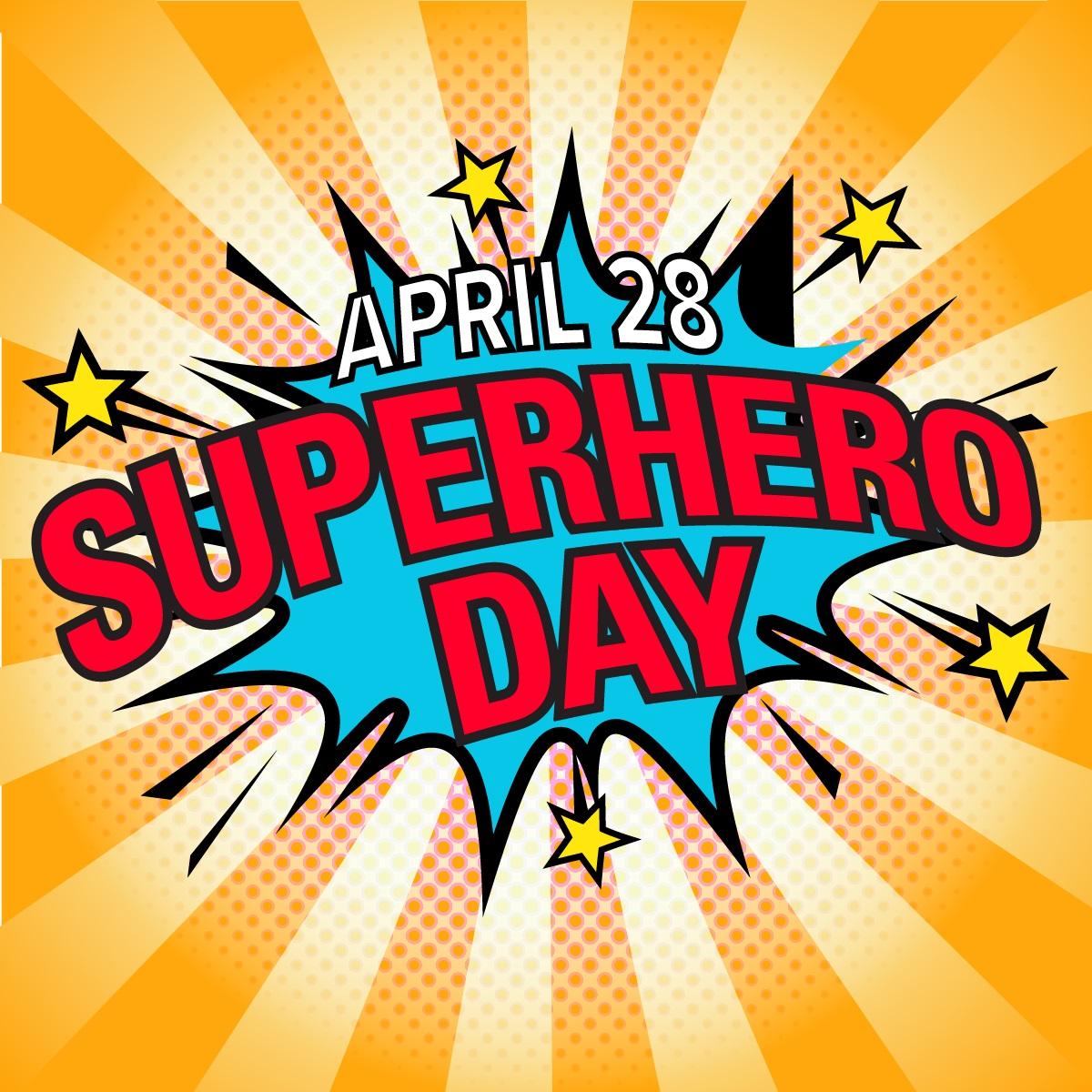 Superhero day splash