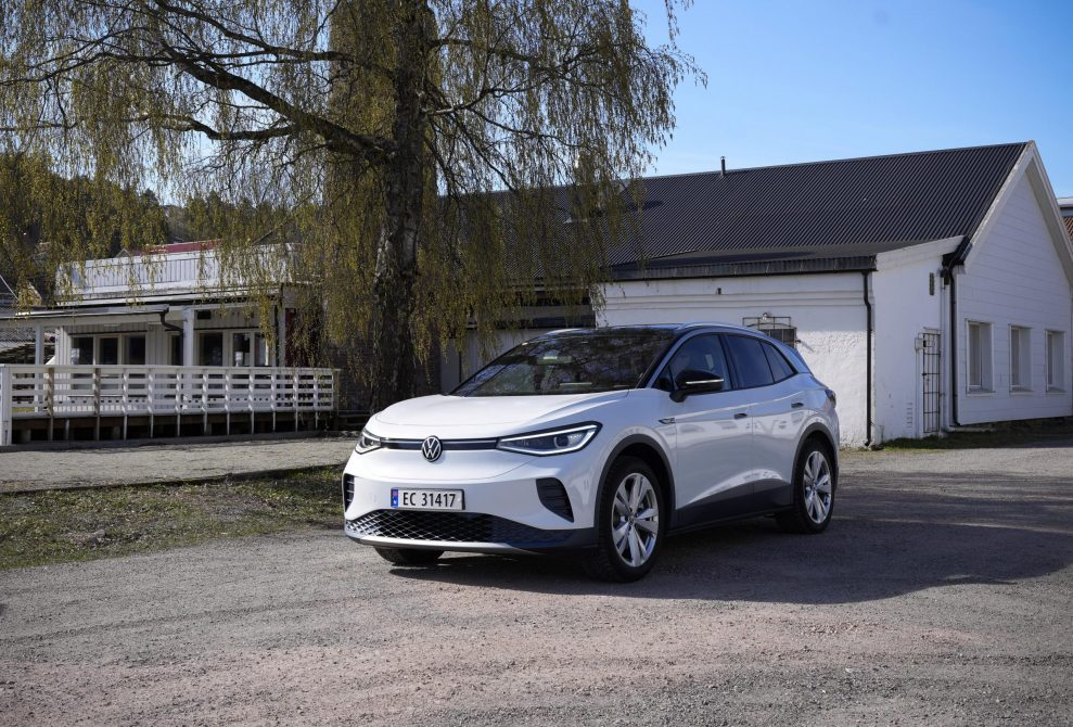 VW ID4 hvit front