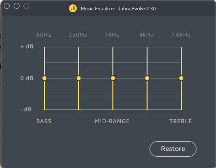Jabra Evolve2 30 app EQ