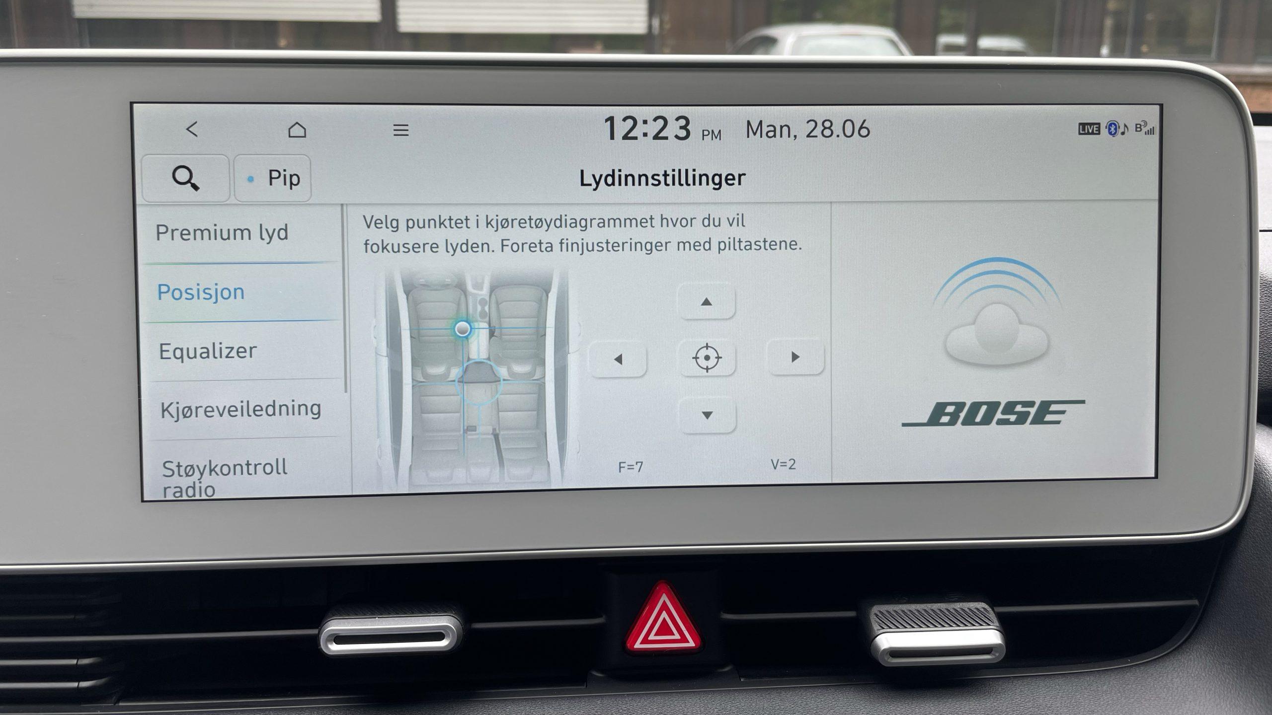Hyundai Ioniq 5 Bose settings