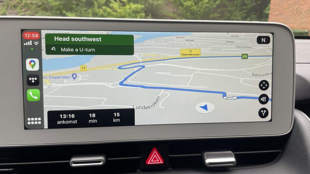 Hyundai Ioniq 5 CarPlay Google Maps