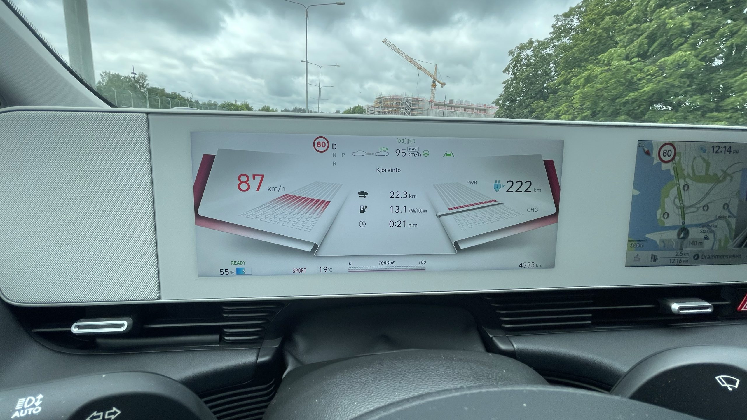 Hyundai Ioniq 5 Instrument Panel Sport Mode