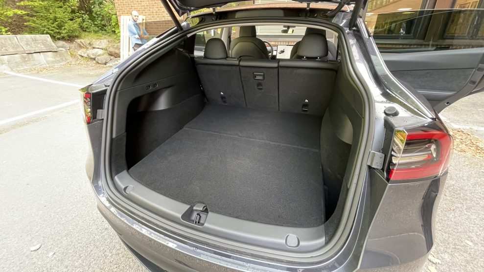 Tesla Model Y trunk space