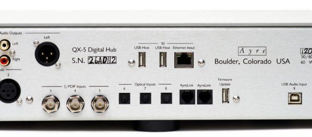 Alla ingångar man behöver i en DAC, inklusive ethernet för nätverk.