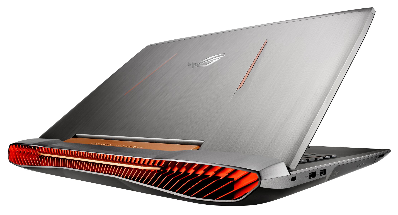 GeForce GTX 1070-grafikkortet ger ifrån sig en hel del värme, så ventilationsskårorna fyller hela baksidan. Foto: Asus