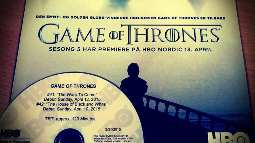 Game of Thrones-premiär på måndag!