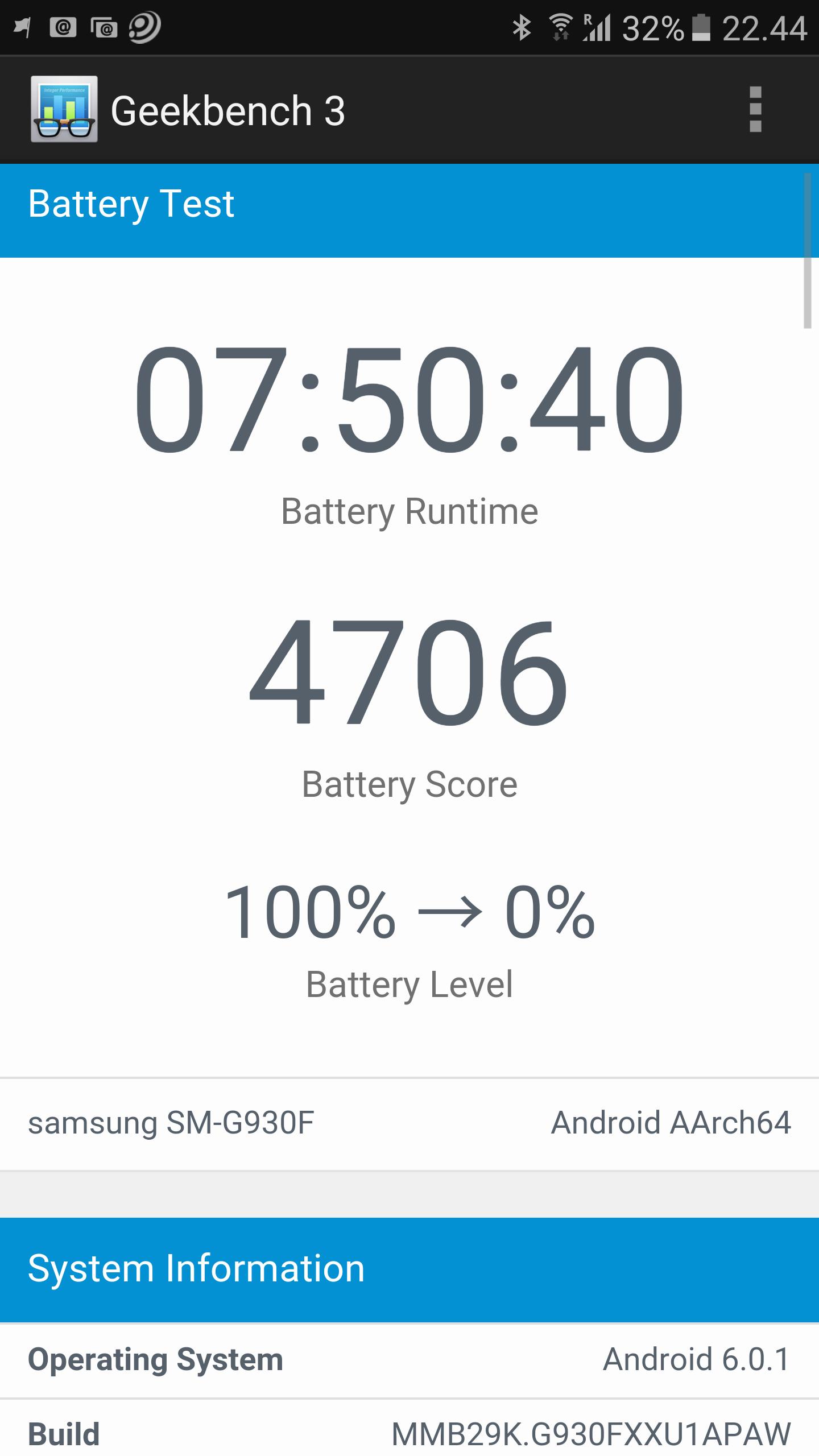Imponerande lång batteritid.