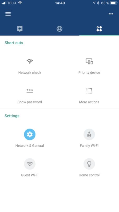 Google Wifi control panel