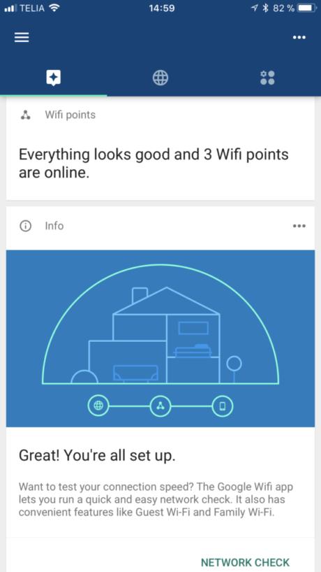 Google Wifi status