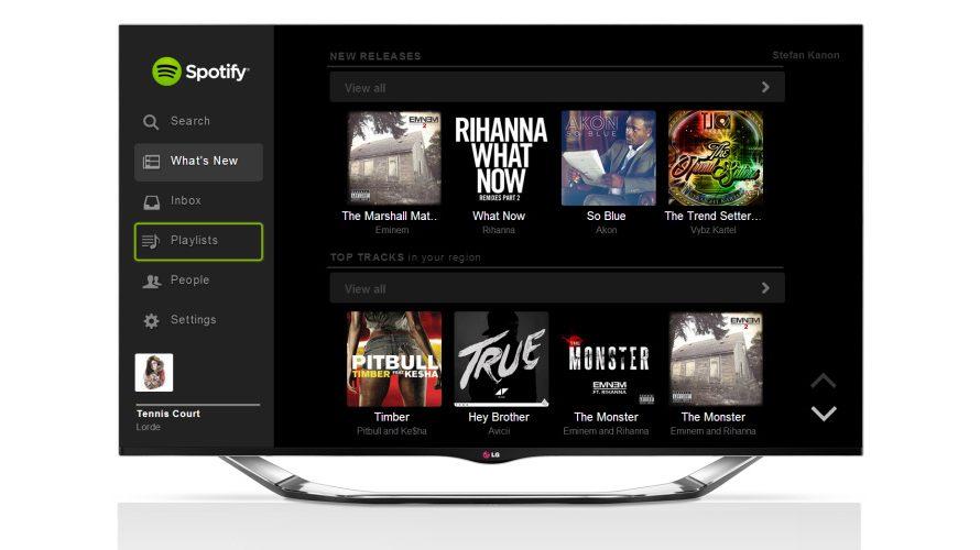 Spotify och Skylanders i LG:s smart-TV