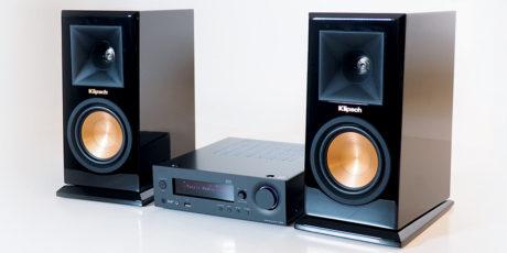 Onkyo R-N855 och Klipsch RP-150M