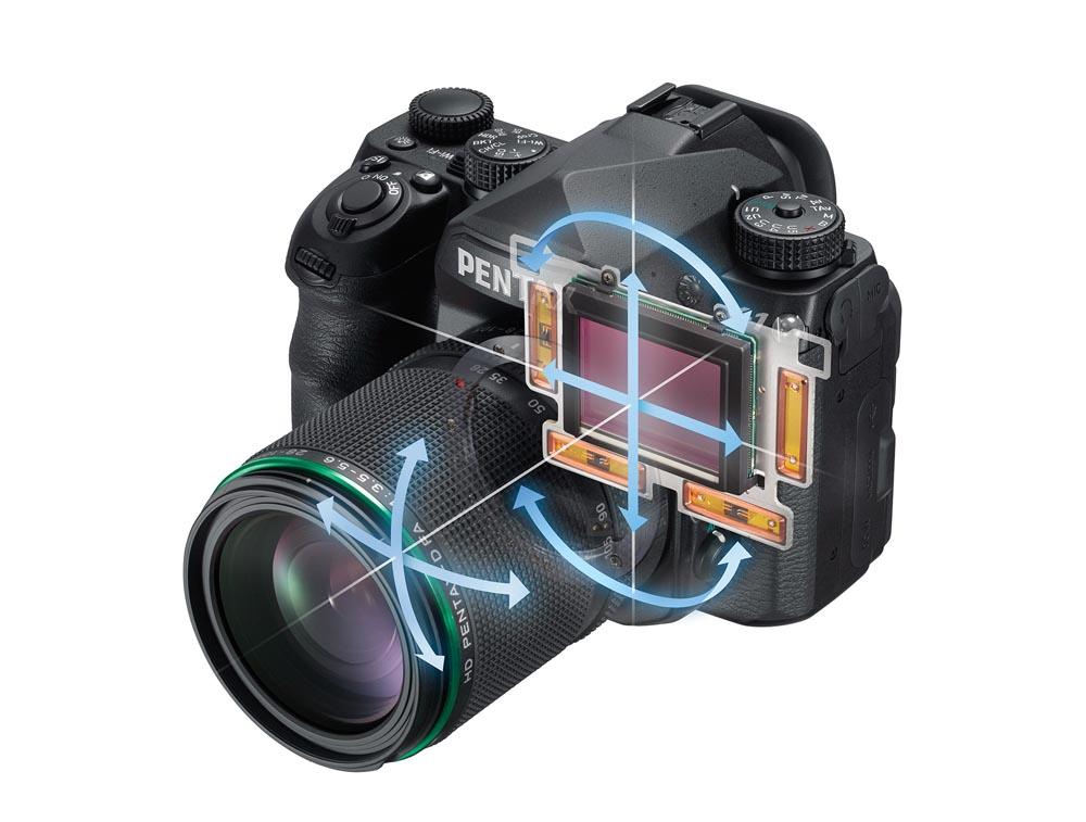 5-axlars bildstabilisering och Pixel Shift är tämligen unikt för en fullformatkamera. (Foto: Tillverkare)