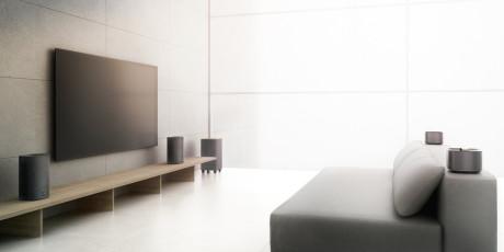 sex 2.1-anläggningar med streaming