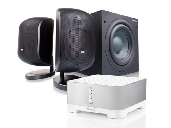 Sonos Connect: Amp + B&W M-1 och ASW608