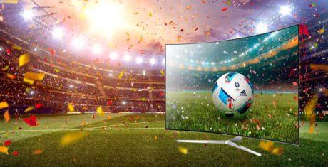 65-tums TV-apparater till fotbolls-EM