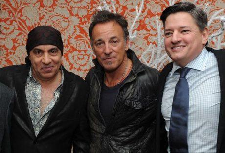 Little Steven, Bruce Springsteen och Netflix' Ted Sarandos på Lilyhammer-premiären i New York. Foto: Getty Images