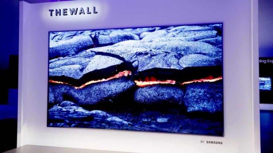 Den här TV:n täcker hela väggen