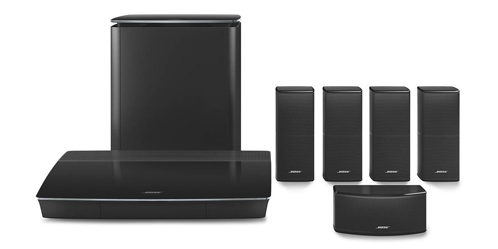 Lifestyle 600 har något mindre högtalare. Foto: Bose