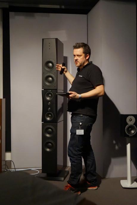 Gästerna fick lyssna på Dynaudios största och minsta högtalare. Evidence Platinum är inte den minsta… Foto: John Alex Hvidlykke, Ljud & Bild