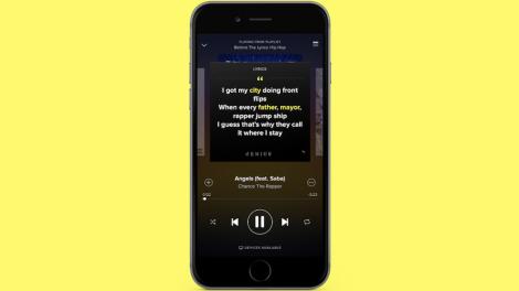 Spotify förklarar låttexter
