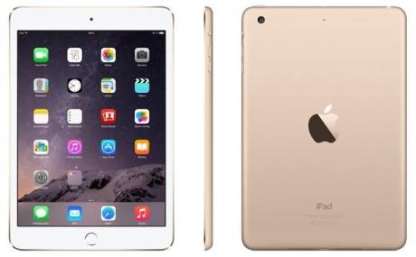 iPad Mini 3 Gold WiFi vinklar