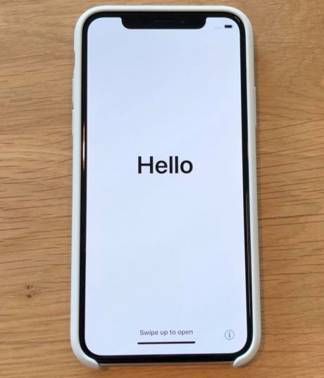 iPhone X Hello
