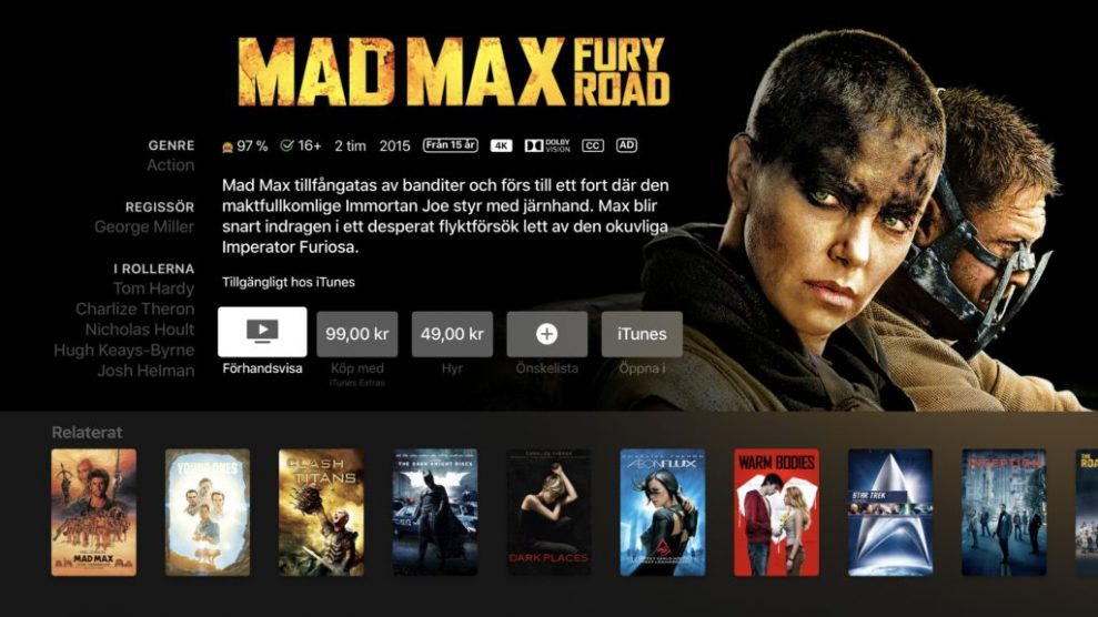 iTunes 4K HDR Mad Max
