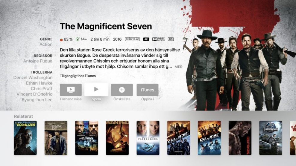 iTunes 4K HDR Magnificent Seven