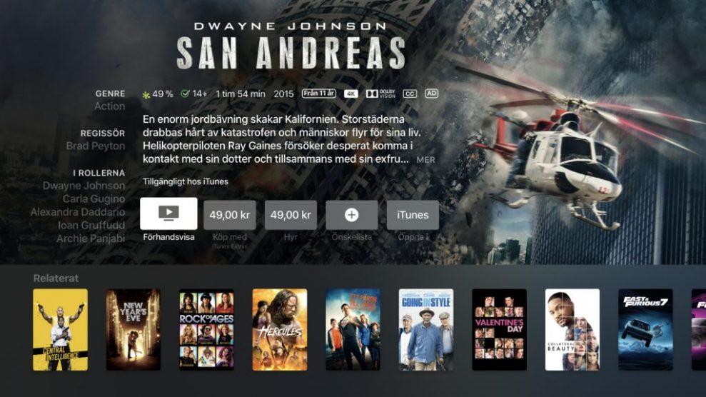 iTunes 4K HDR San Andreas