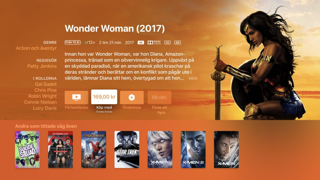 iTunes 4K HDR Wonder Woman