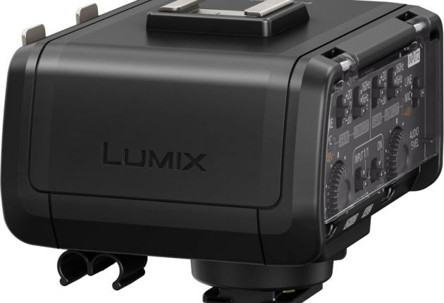 XLR-adaptern DMW-XLR1 passar i blixtskon.