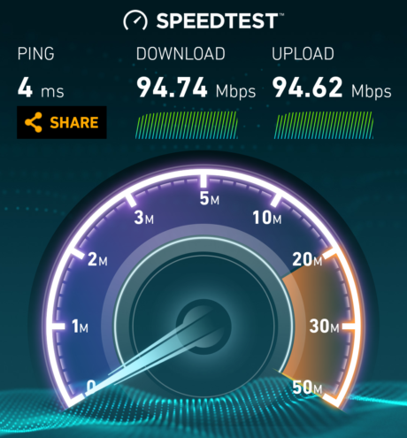 speedtest after