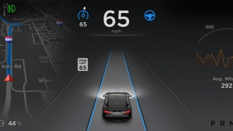 Efter en uppdatering kan Tesla Model S göras delvis självkörande. Foto: Tesla Motors